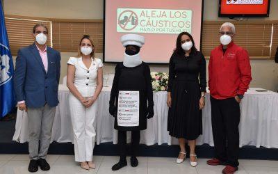 """Hospital Hugo Mendoza y SNS lanzan campaña """"Aleja los cáusticos, hazlo por tus hijos"""""""